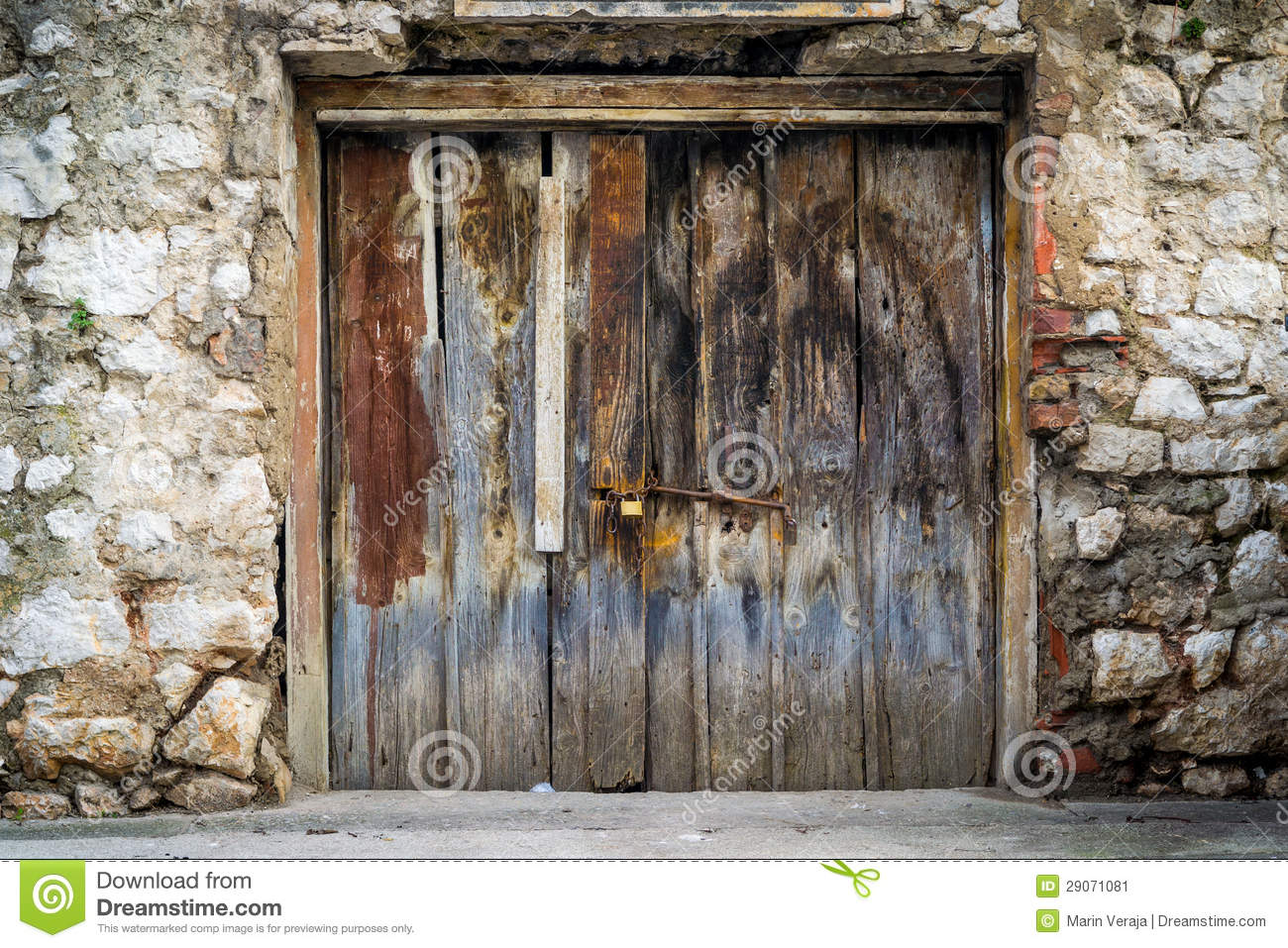 Old Rustic Wooden Doors Stock Image Image Of Building