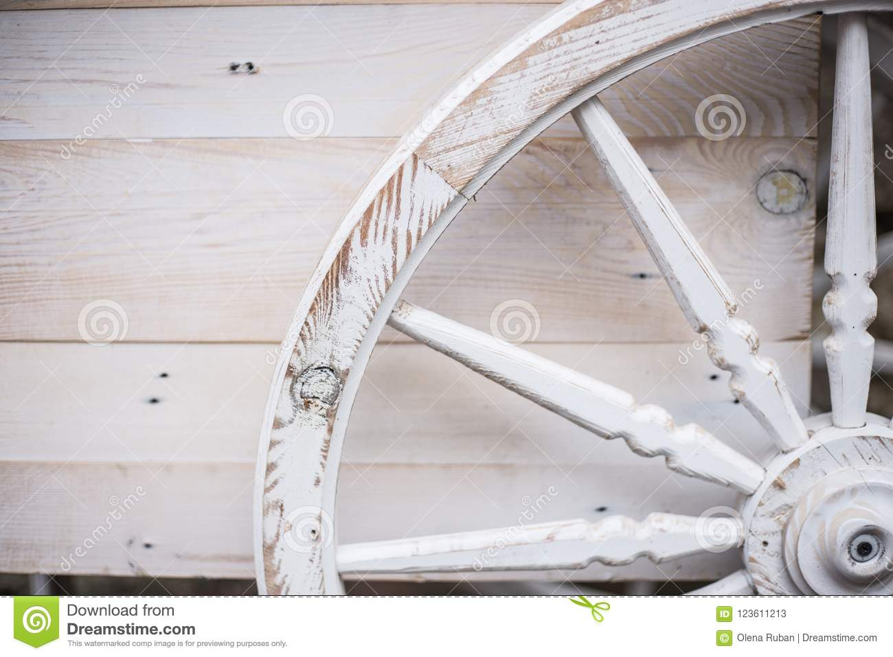 Old Rustic Wooden Wagon Wheel Stock Image Image Of Garden Beautiful 123611213