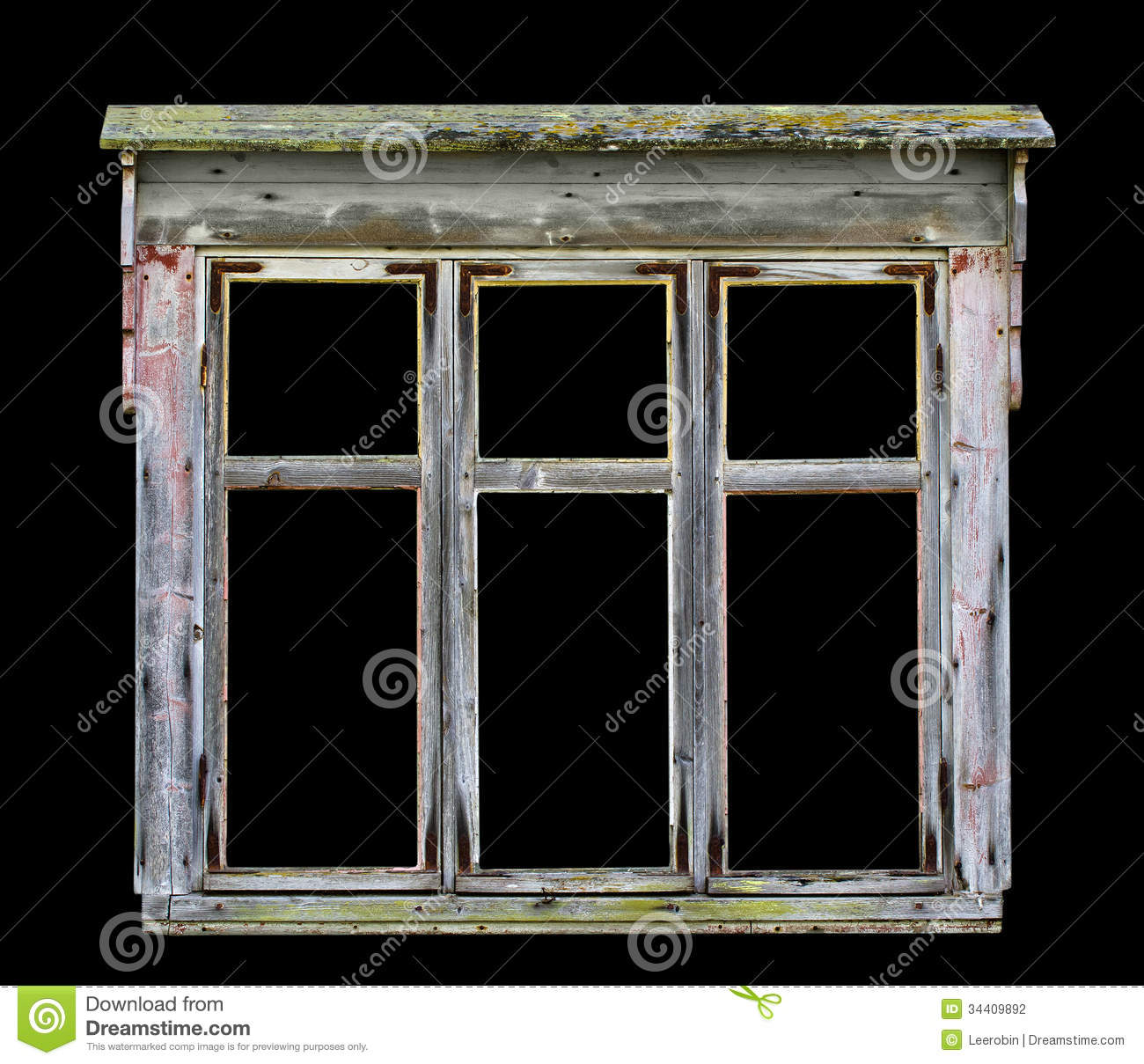 Wood Window Frames : Old rustic wooden window frame stock photography image