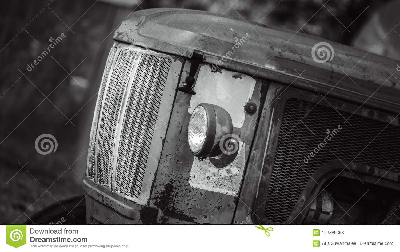 Old Rusty Abandoned Forgotten Cars. Very Old Rusty Abandoned Forgotten Cars In Antique Grunge Car Collectible Garage Royalty Free Stock Photos