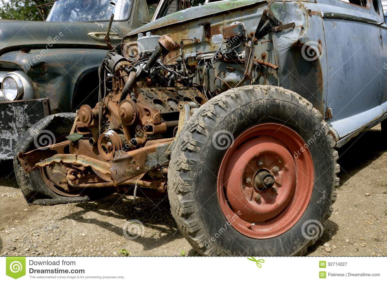 Old rusty car engine stock image. Image of engine, firewall - 92714027