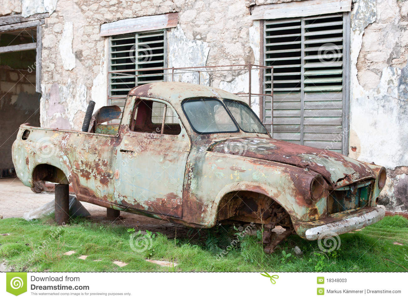 old rusty car wreck stock photos