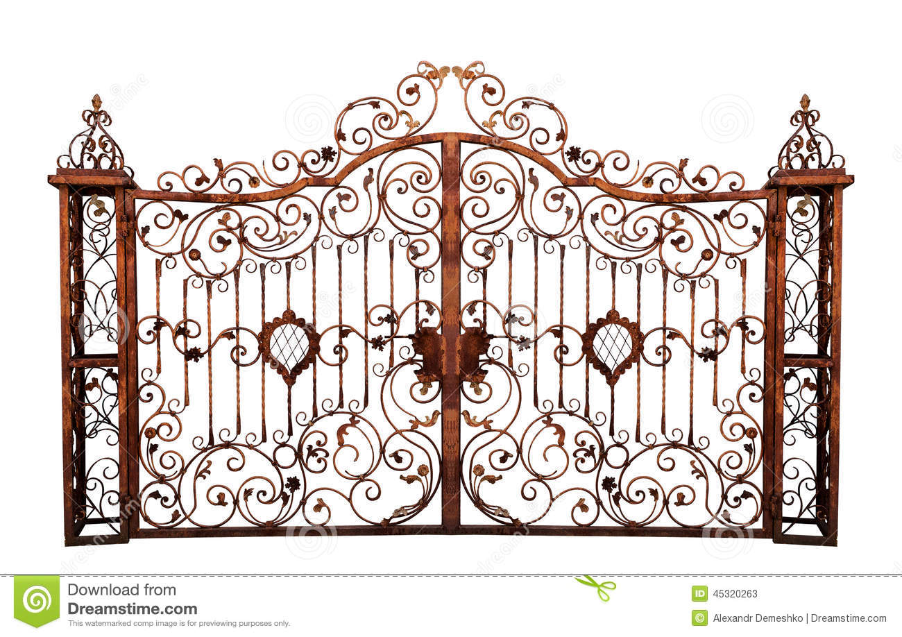 Old Rusty Cemetery Gate Stock Photo Image 45320263