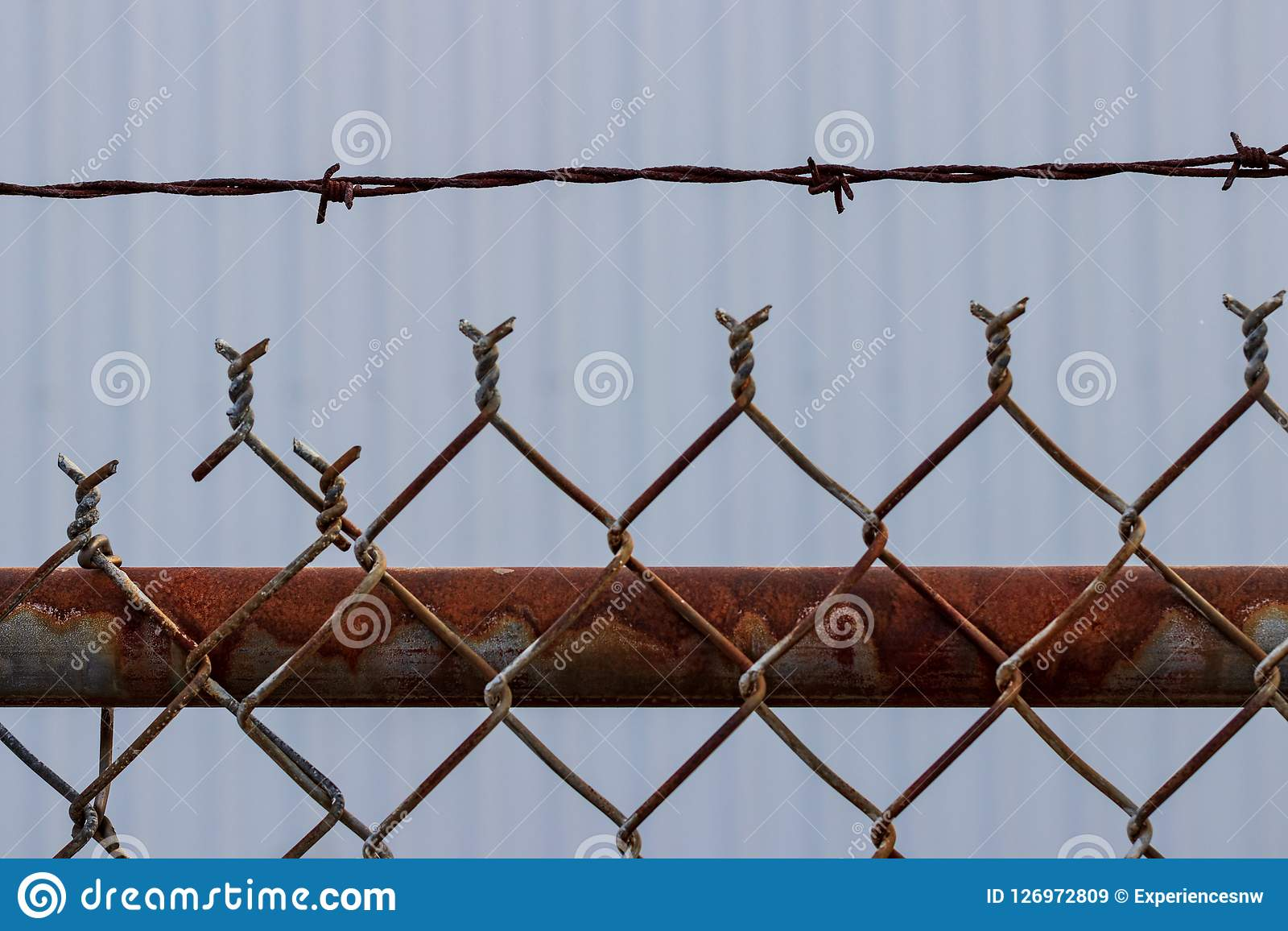 Image Of Rusty Chain Link Fence