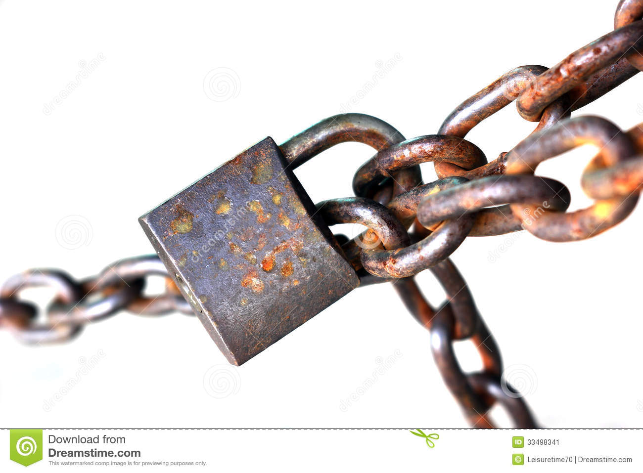 Old rusty chain with lock stock image image 33498341 - How to open chain lock ...
