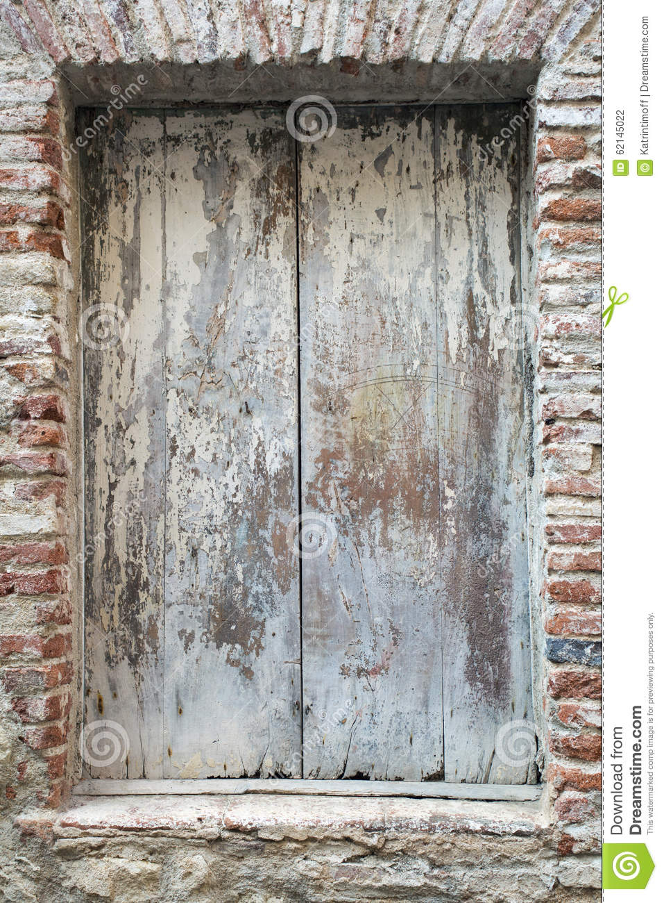 Old Rusty Door As A Background Texture Front View Stock