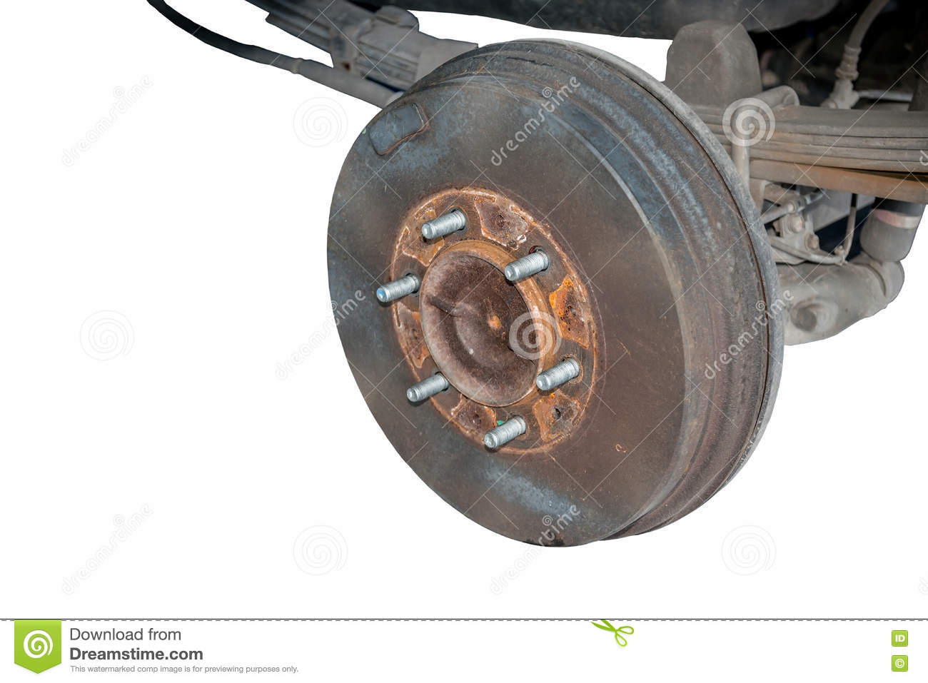 Old Rusty Drum Brakes Rear Wheel Stock Image Of Rotor Disk Disc