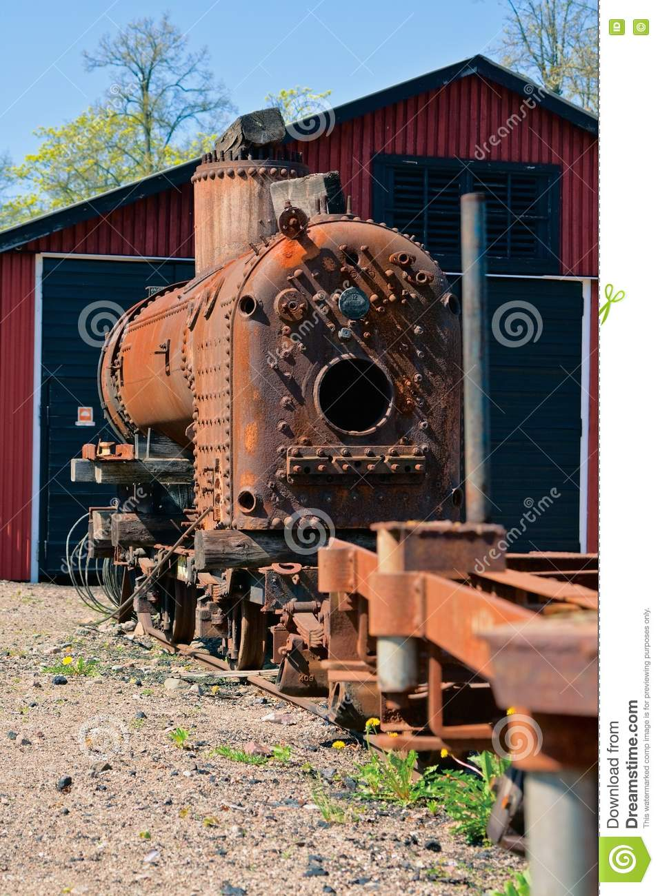 Old rusty engine stock image. Image of transportation ...