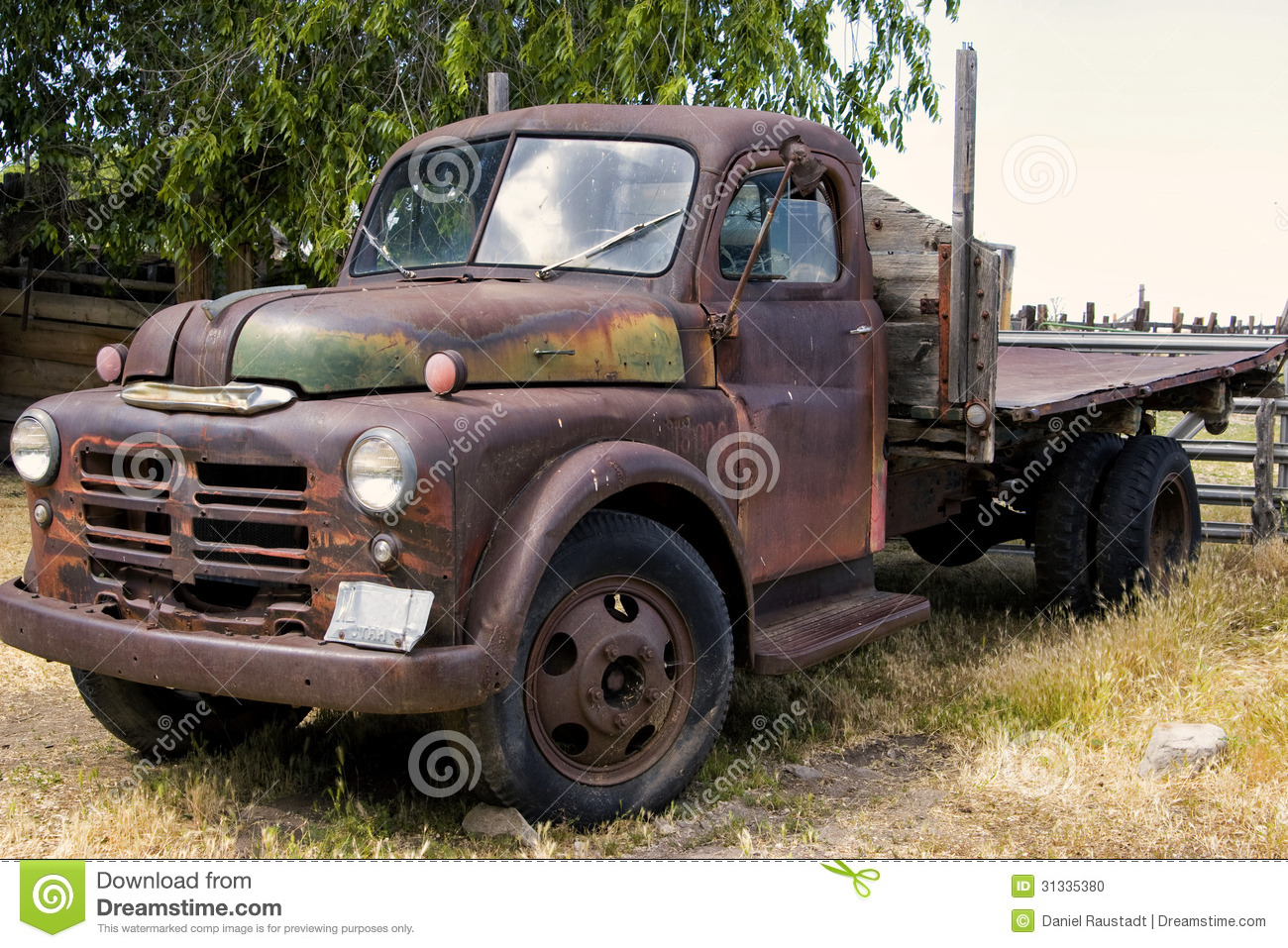Old Rusty Faded Farm Truck Relic Stock Photo - Image of hauler ...