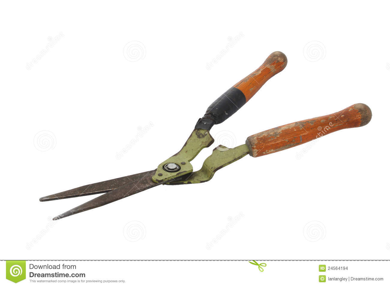 old and rusty garden shears stock images image 24564194