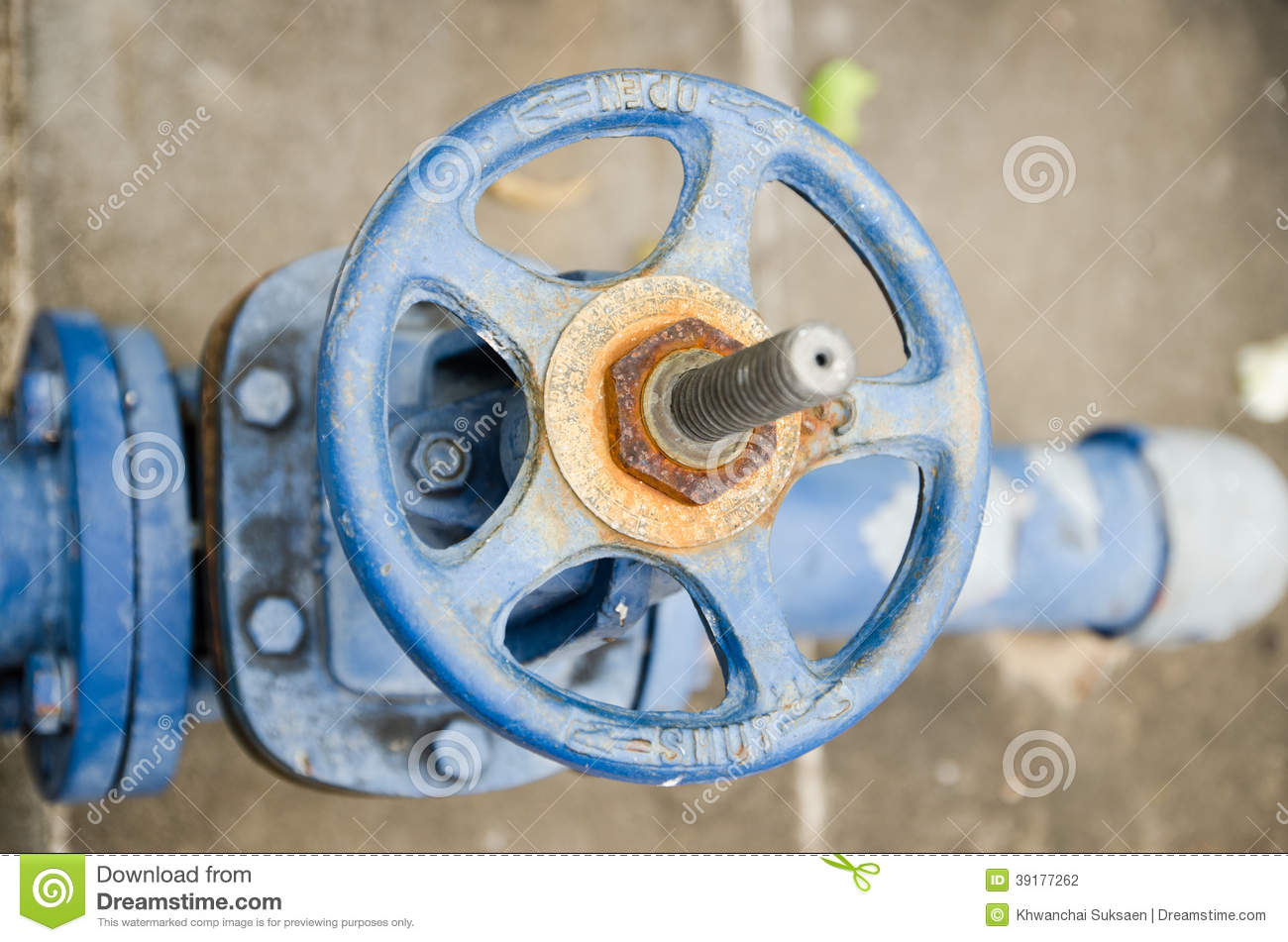 Old Rusty Industrial Tap Water Pipe And Valve Stock Photo