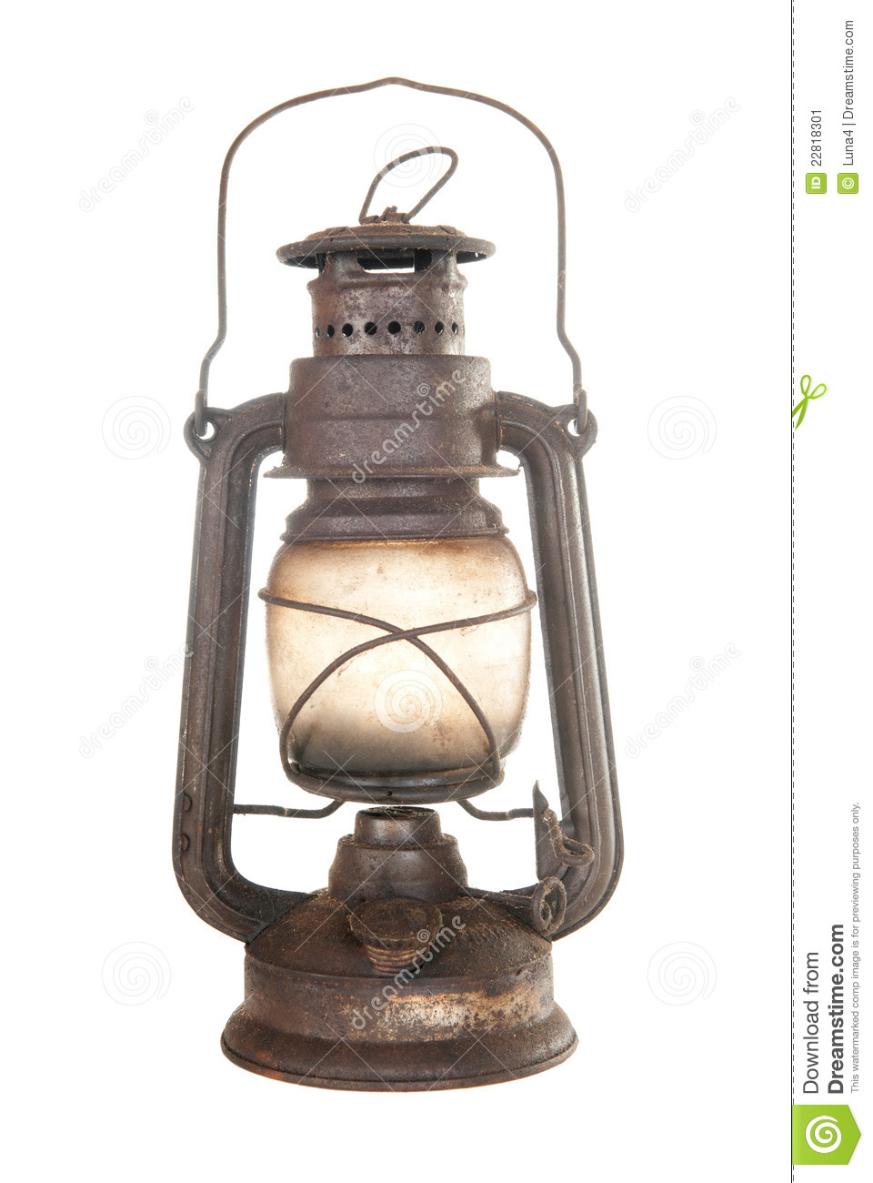 Old Rusty Kerosene Lamp Stock Image Image 22818301