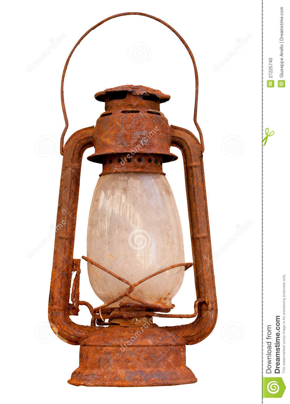 Old Rusty Lantern Stock Photo Image Of Metal Isolated