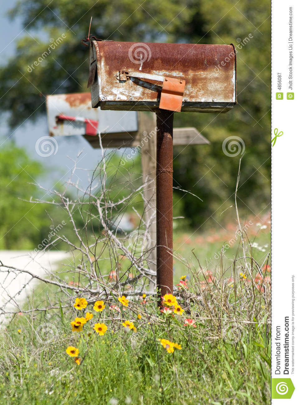 old rusty mailbox stock image image of sticks mail