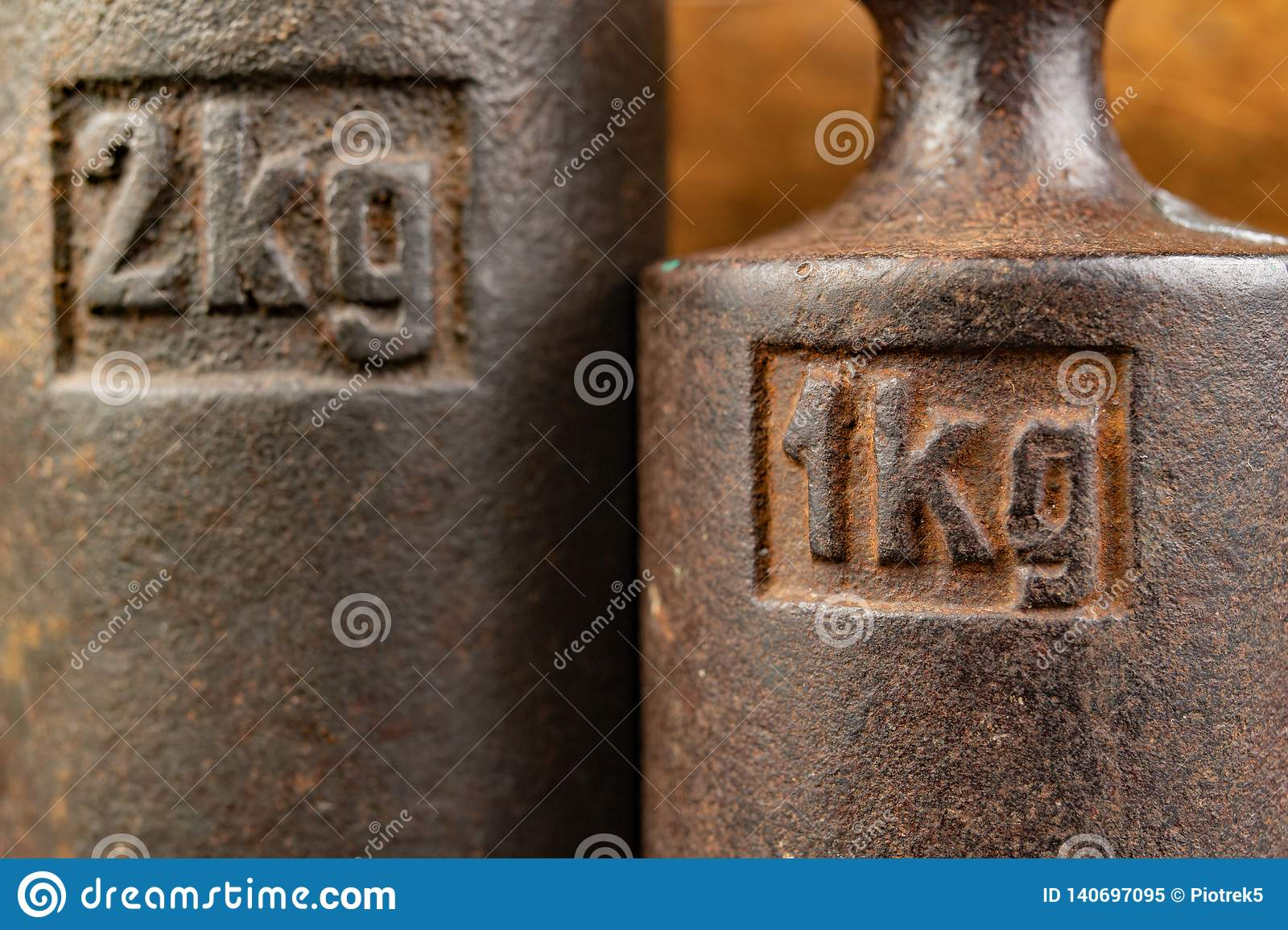 Old Rusty Metal Weights For Weighing Products  Accessories