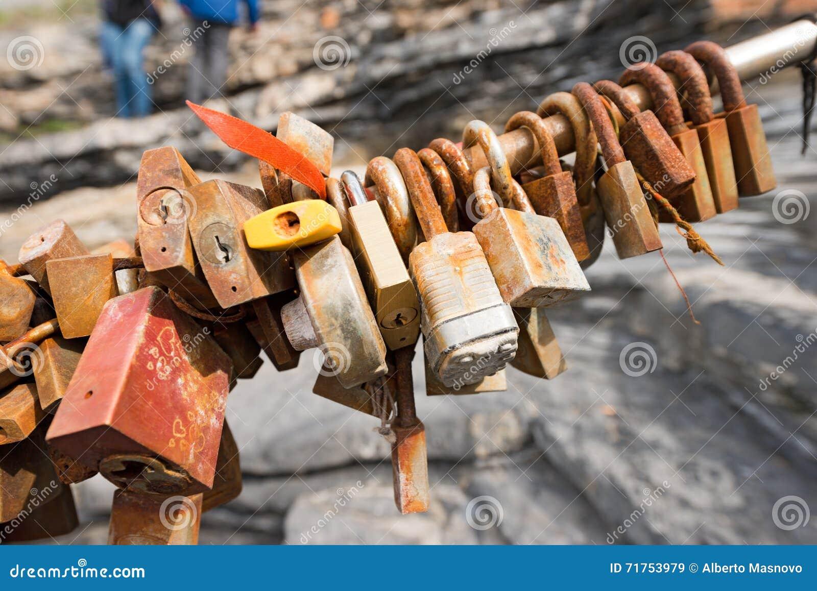 Old Rusty Padlocks Love Symbol Stock Image Image Of Italy Love
