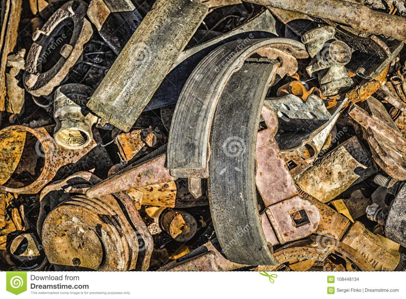 Used Parts For Repair Of Equipment Stock Photo - Image of