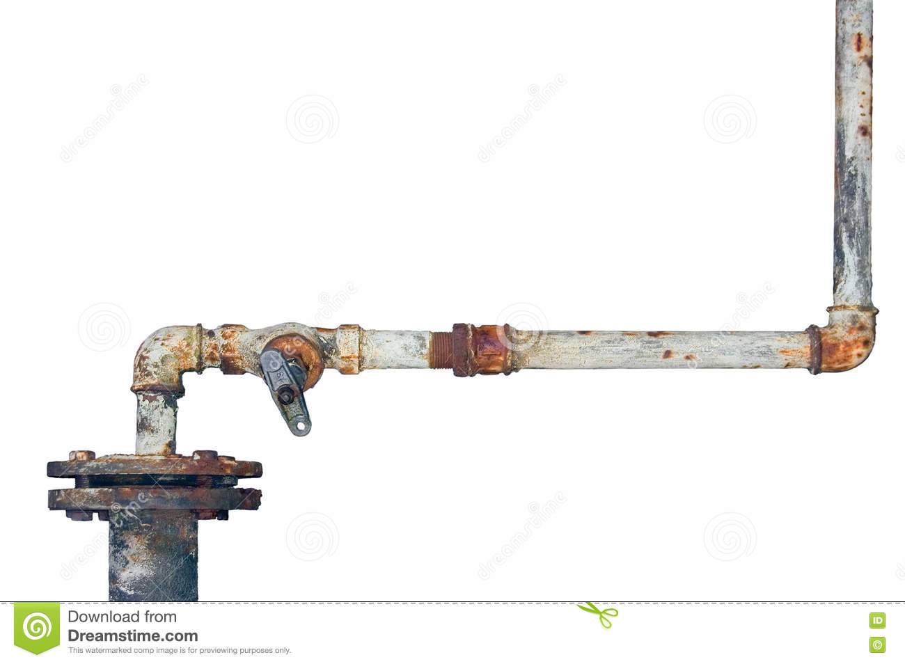 old rusty pipes aged weathered isolated grunge rust iron