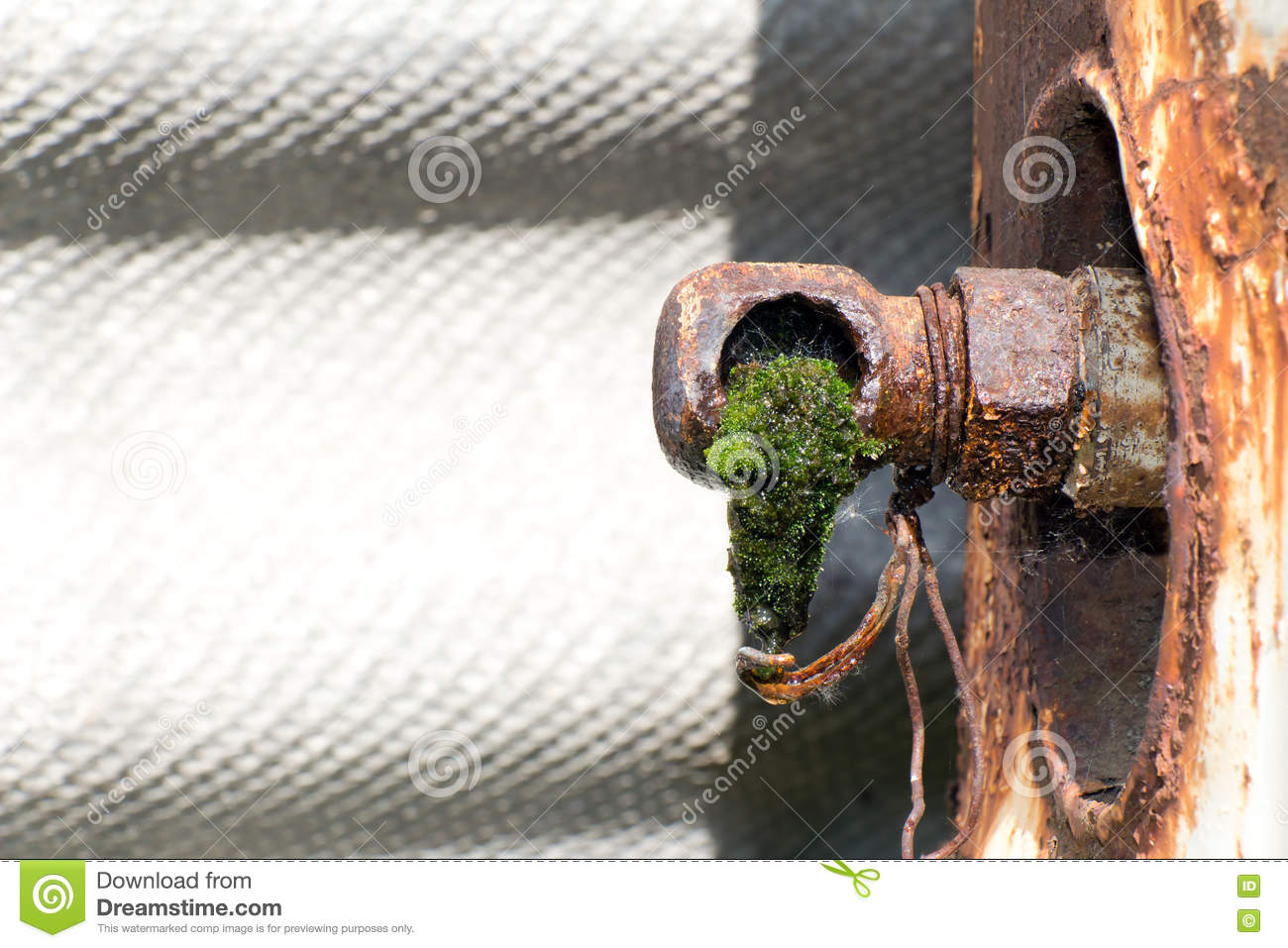 From Old Rusty Pipes (broken Faucet) Is Dripping Water Stock Image ...