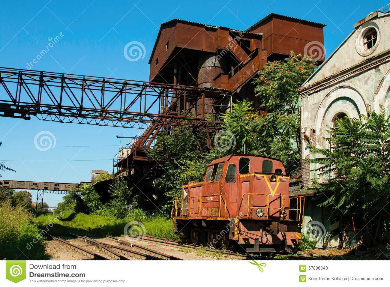 Old Rusty Russian Train Editorial Image