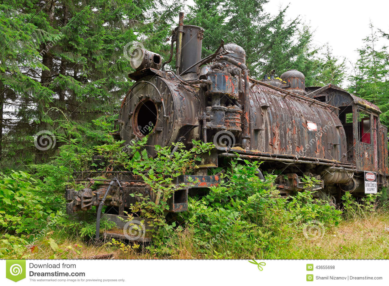 Old Rusty Steam Locomotive Stock Photo. Image Of