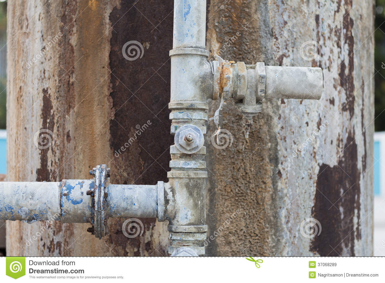 Old And Rusty Water Pipe Stock Image Image Of Metallic