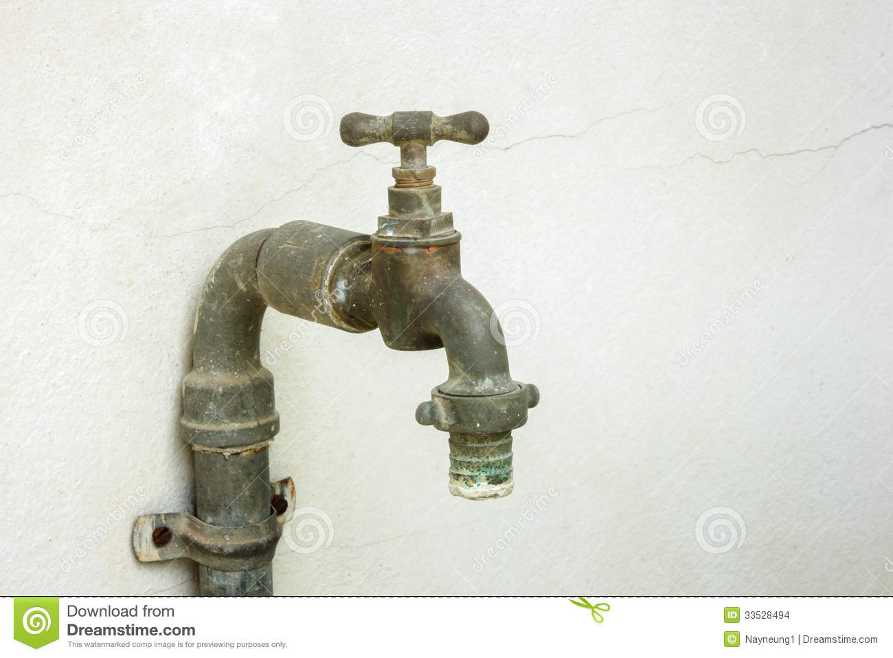 old rusty water tap stock photo  image of bathroom  flowing
