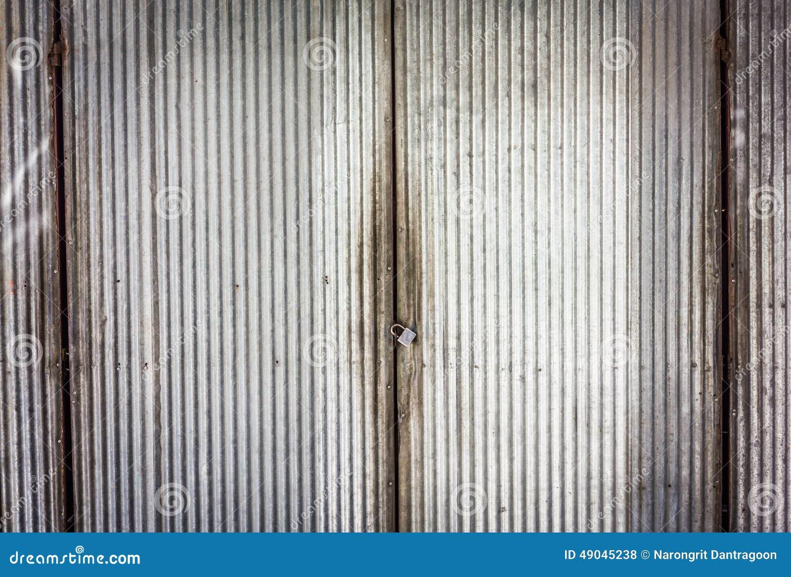 Zinc Doorrusty Corrugated Iron Metal Stock Image & Zink Door - Sanfranciscolife