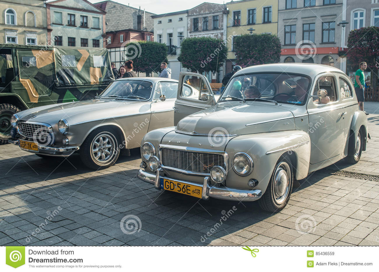 Old Saab And Volvo Cars Editorial Stock Image Image Of Chromed