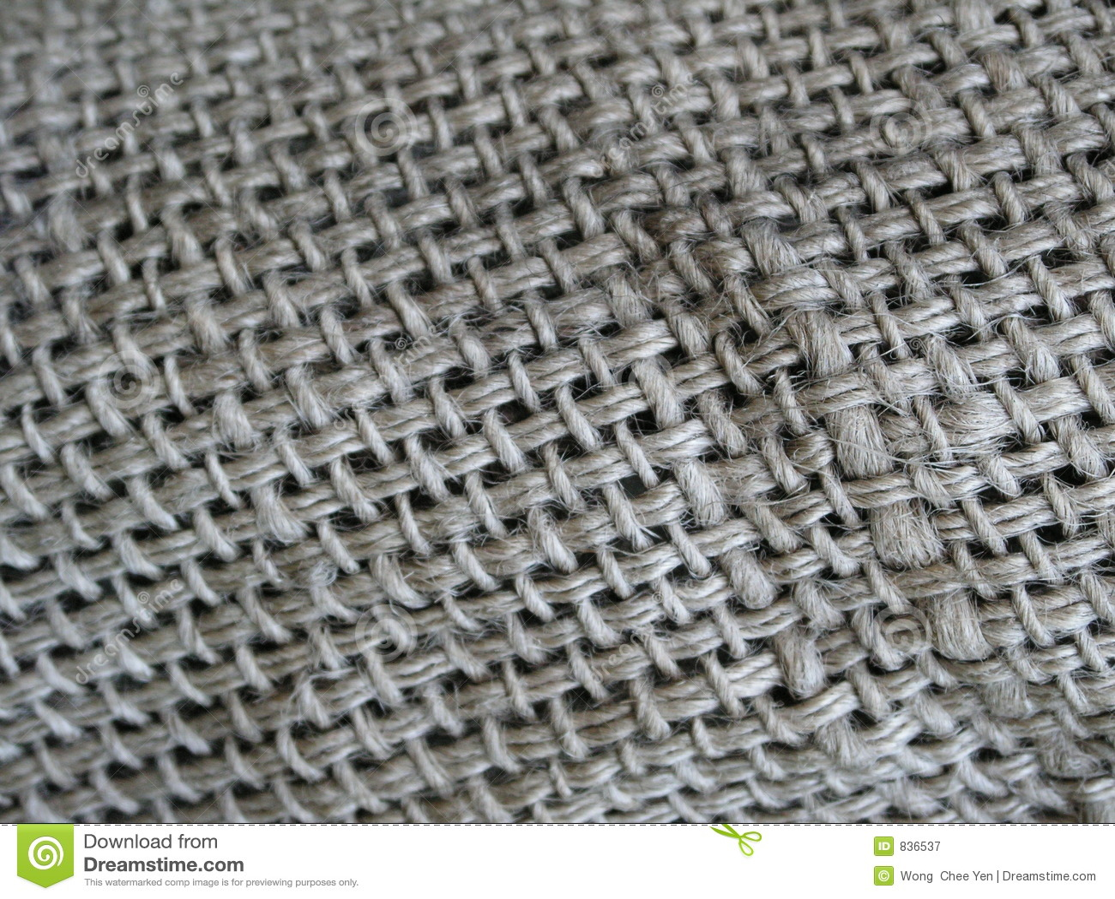 Old sack cloth