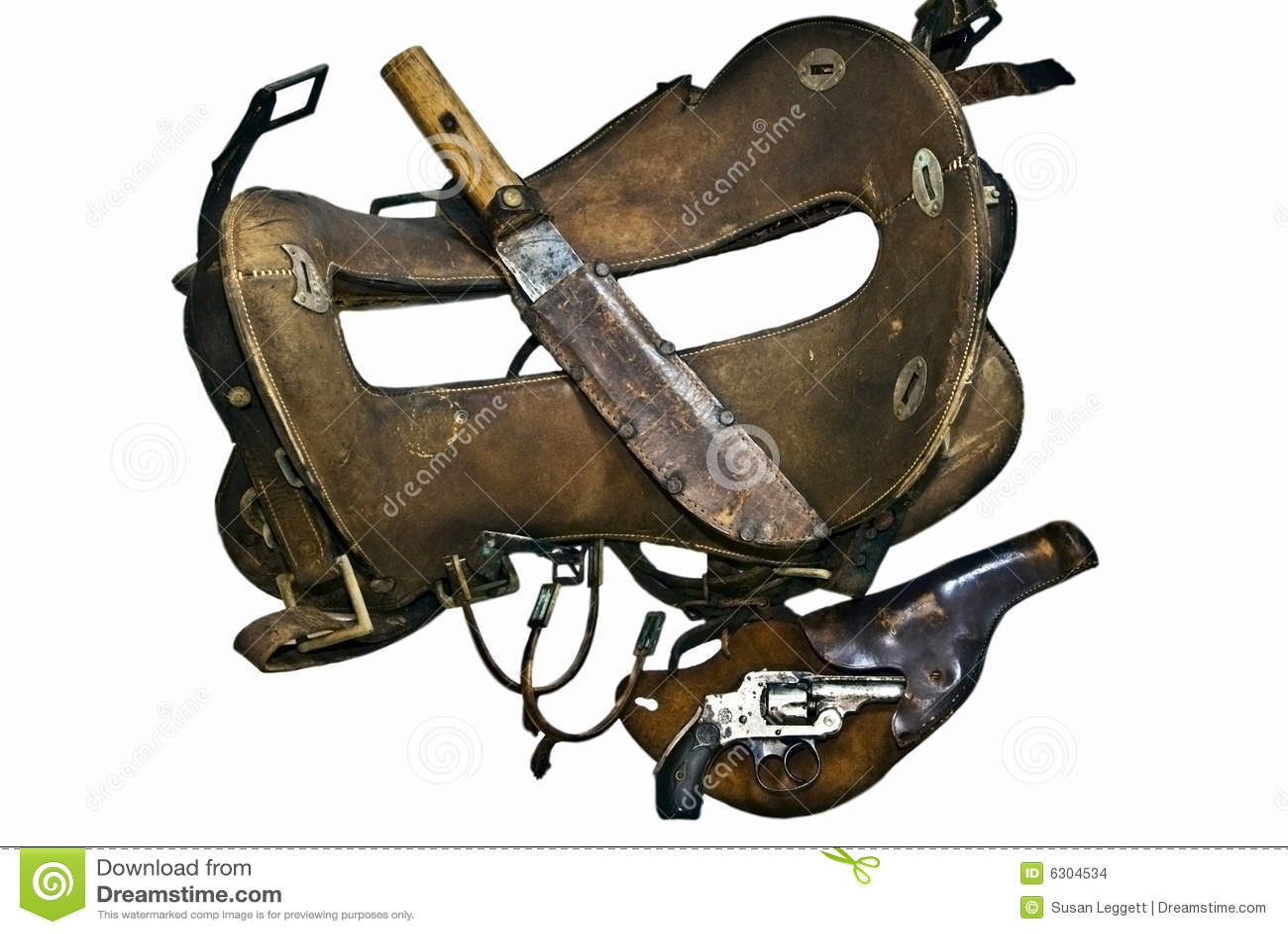 Download Old Saddle,Gun,Knife,Spurs stock photo. Image of american - 6304534
