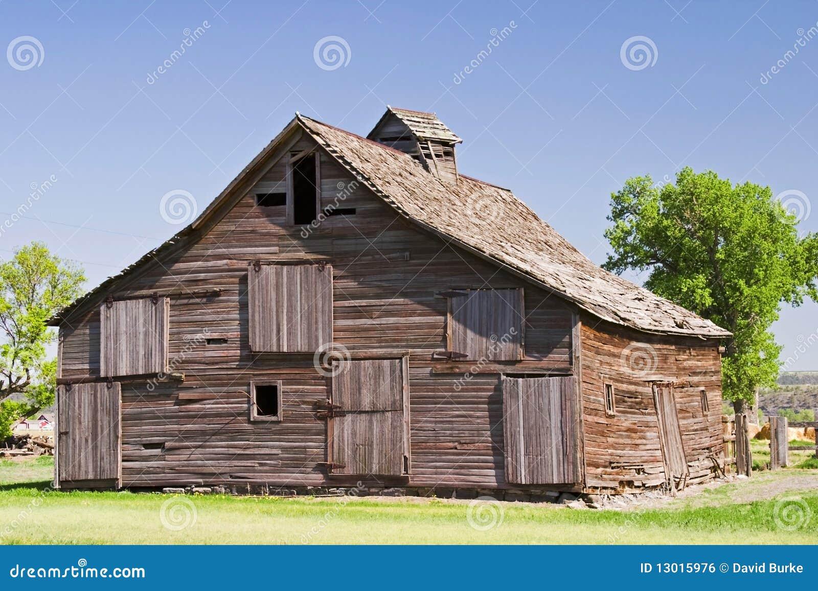 Old sagging barn