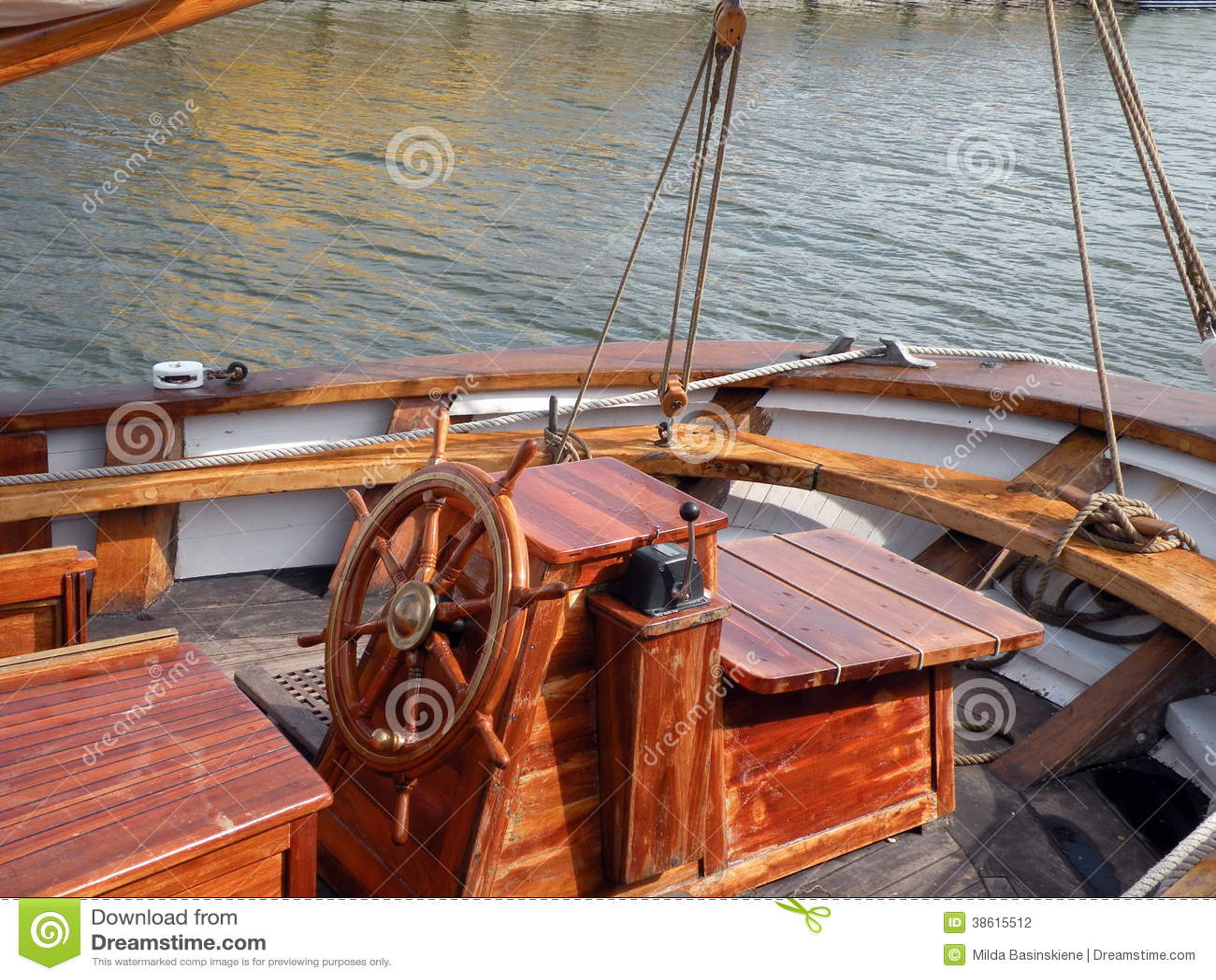 Old Sailing Ship Deck ...