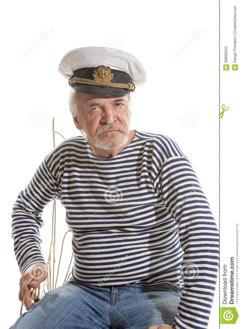 ec2e6f8dbefe5 Old sailor man stock image. Image of elderly