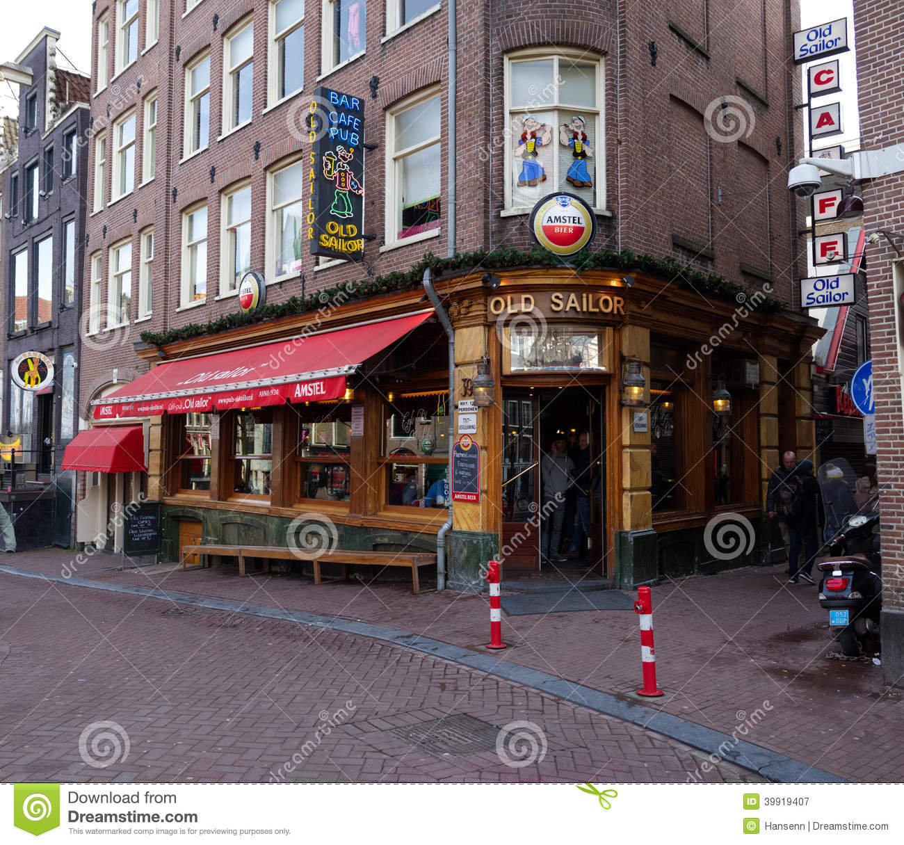 Old Sailor Pub In Amsterdam Editorial Photography Image