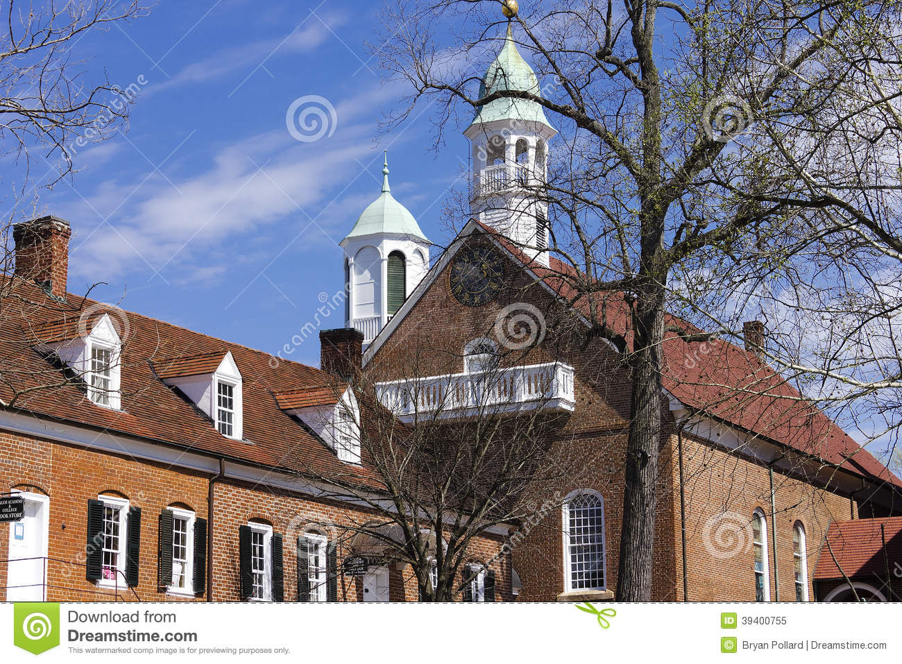 Old Salem Home Moravian Church Stock Photo Image 39400755