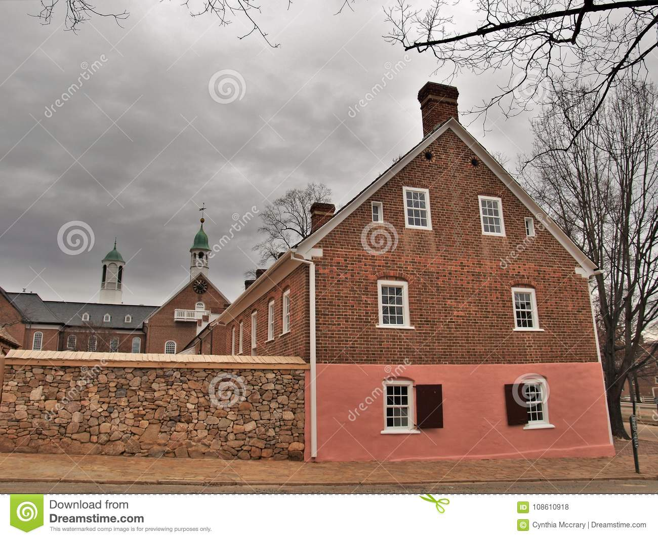 Old Salem Museum & Gardens editorial stock photo. Image of ...