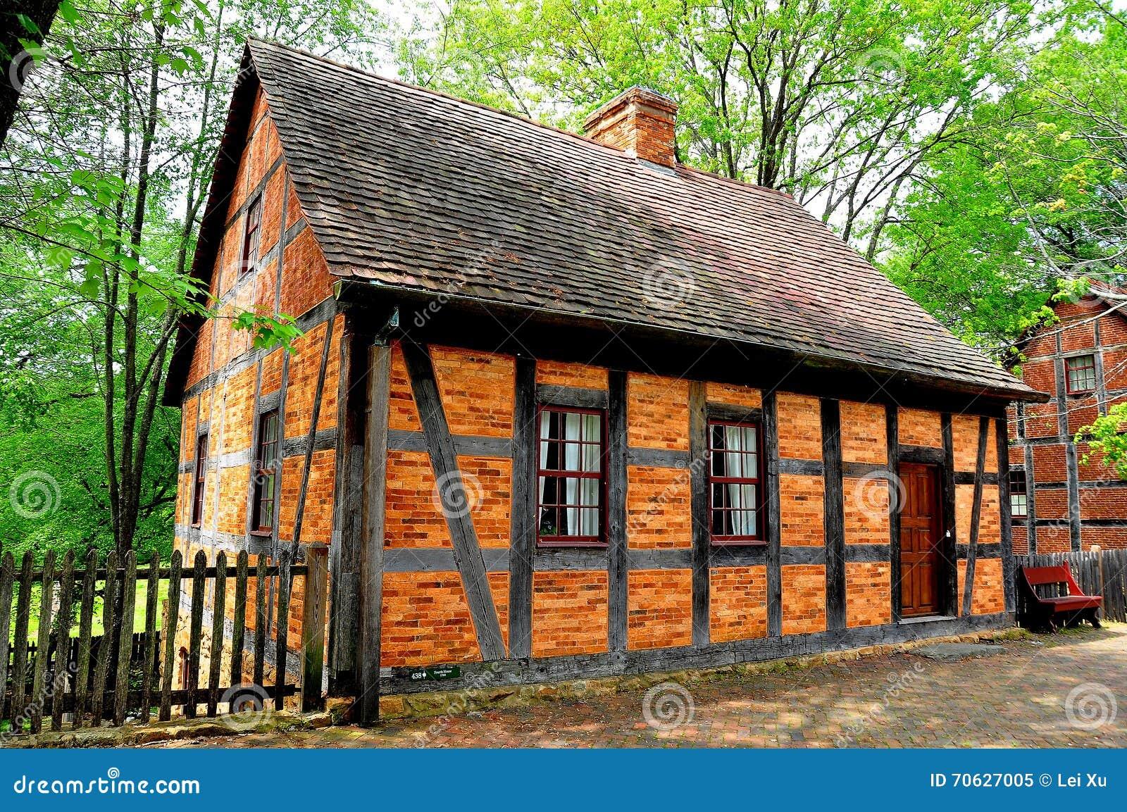 Old Salem, NC: Fachwerk 1765 Fourth House Editorial Image - Image of ...