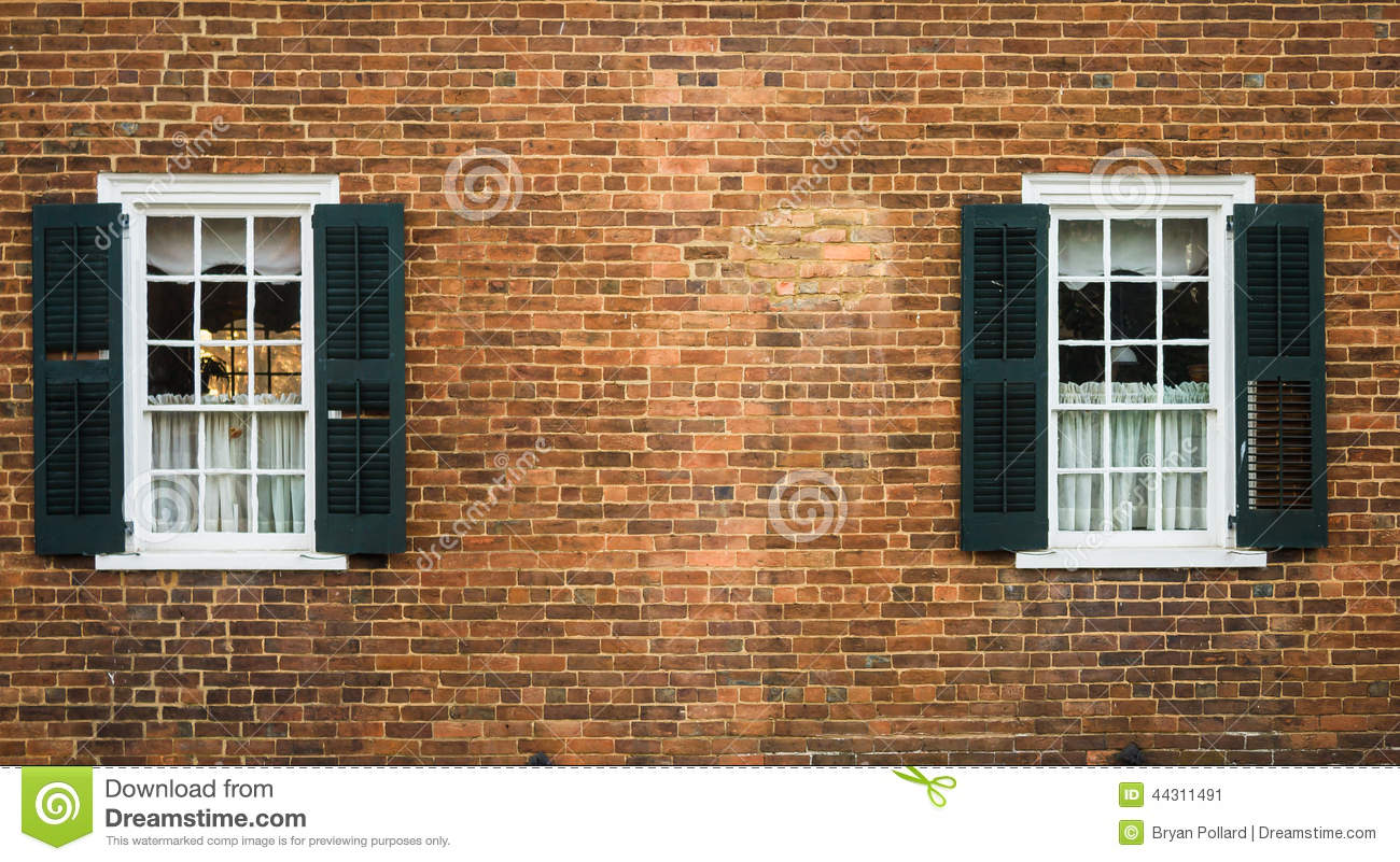 Old Salem Windows stock image. Image of wall, carolina - 44311491