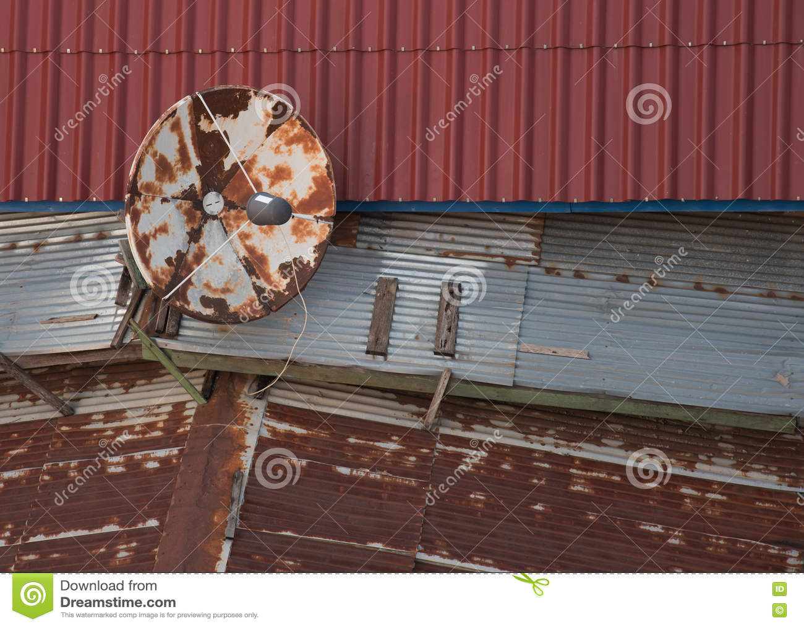 old satellite dish stock photo image 50196312