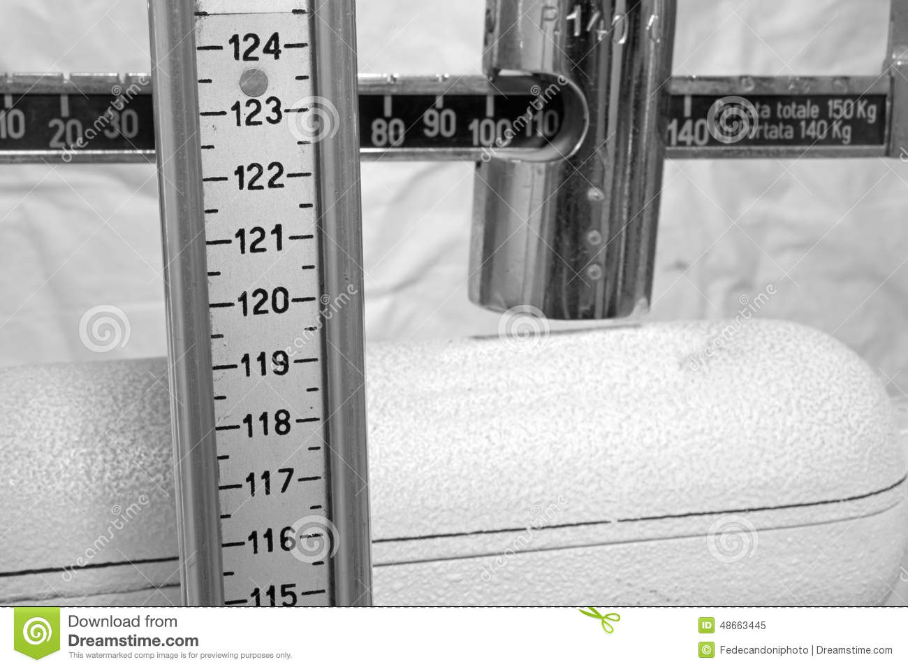 how to read a weight and height scale