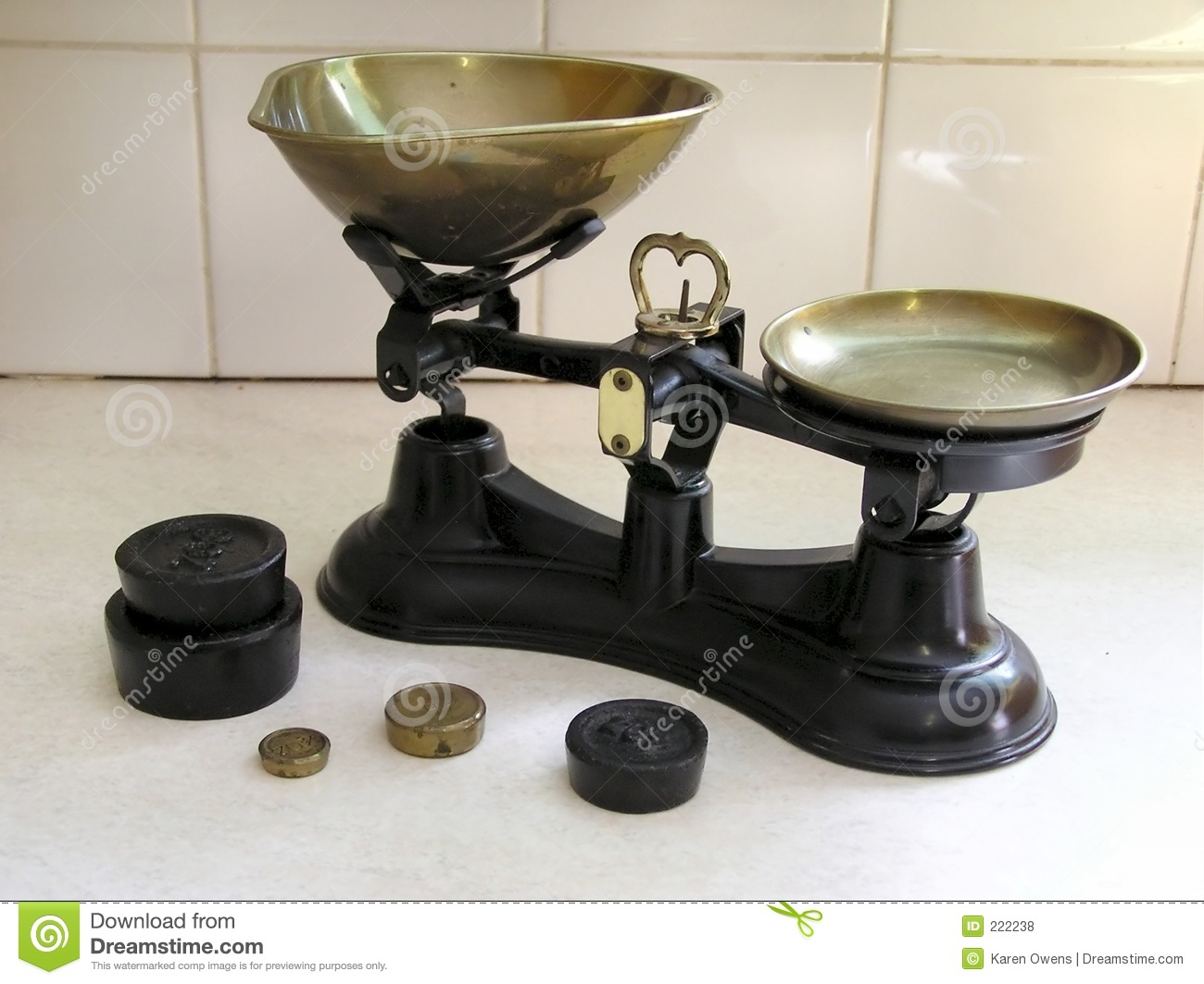 Old scales 2 royalty free stock photos image 222238 for Traditional kitchen scales