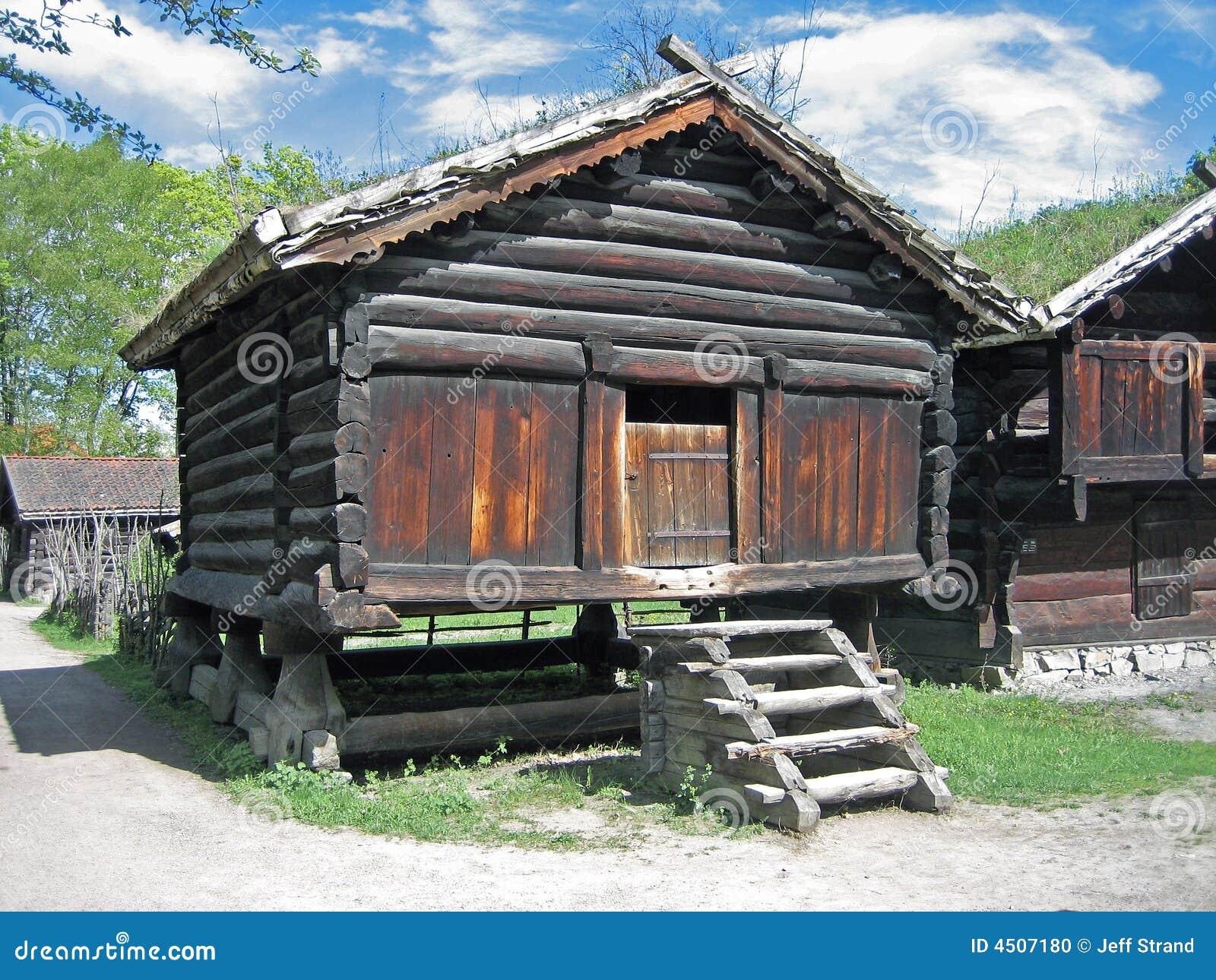 e9c0dfad Old Scandinavian Barn stock photo. Image of farm, swedish - 4507180