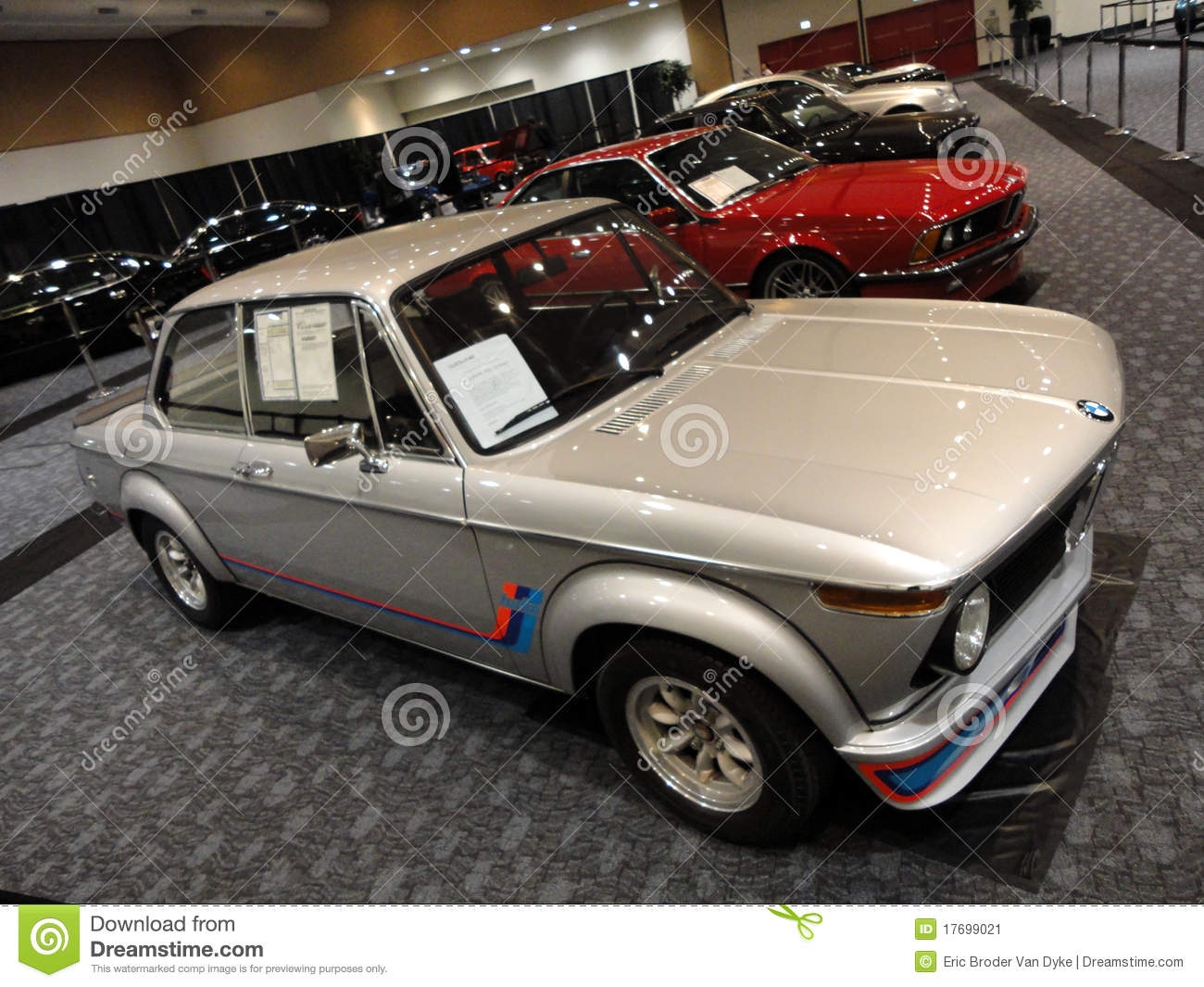 Old School BMW And Other Classic Cars Displayed Editorial Photo ...