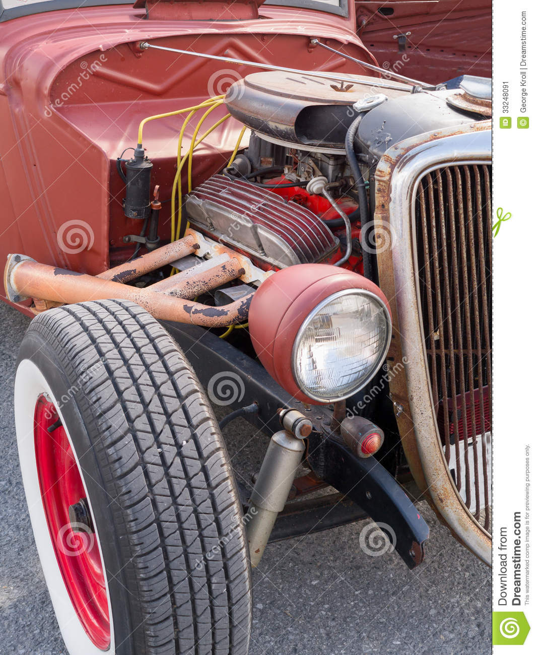 Old School Hot Rod stock image. Image of engine, compartment - 33248091