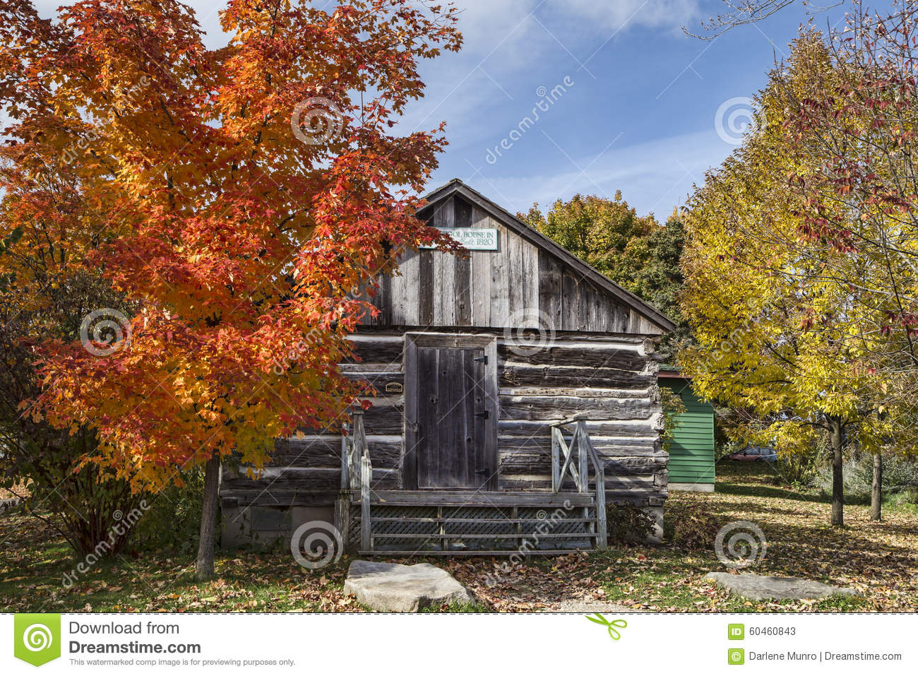 Old School House in Fall