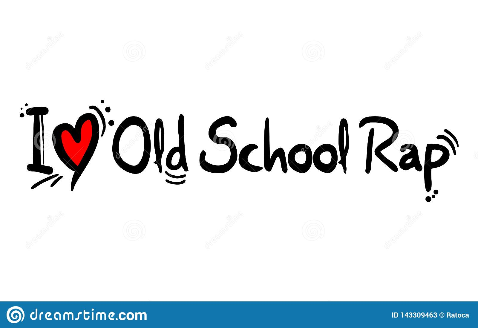 Old School Rap music love stock vector  Illustration of isolated