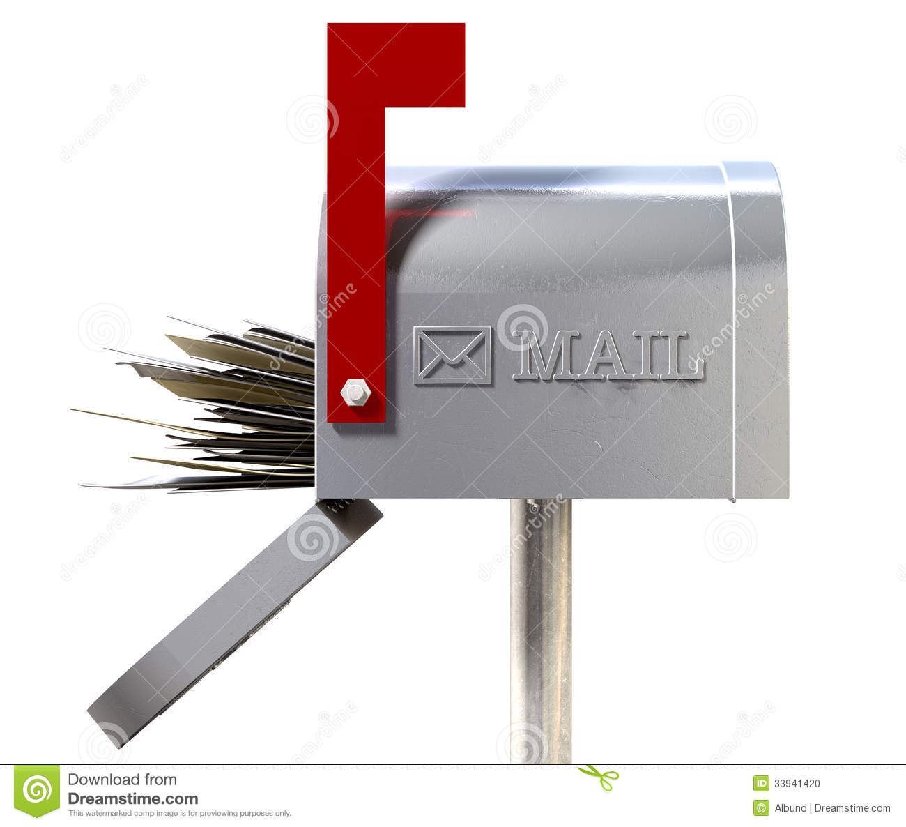 Old school retro metal mailbox full stock photo image for What to do with old mailbox