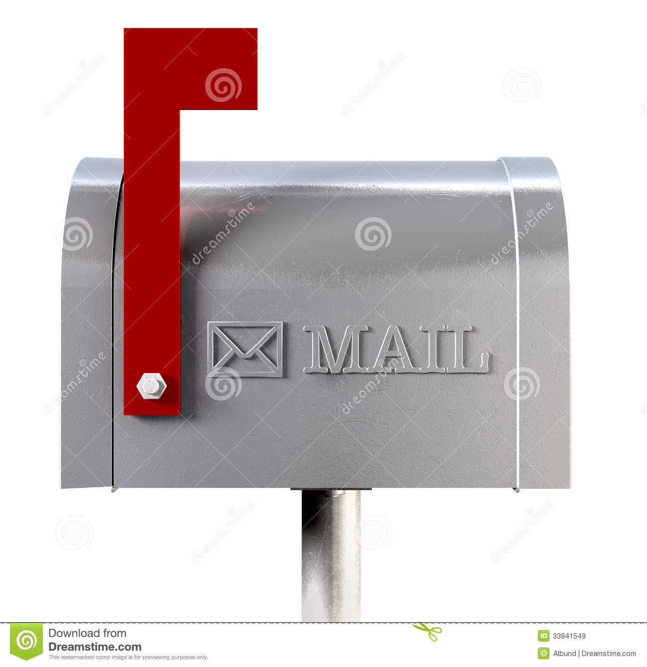 Old School Retro Metal Mailbox Side View Royalty Free Stock Images - Image: 33941549