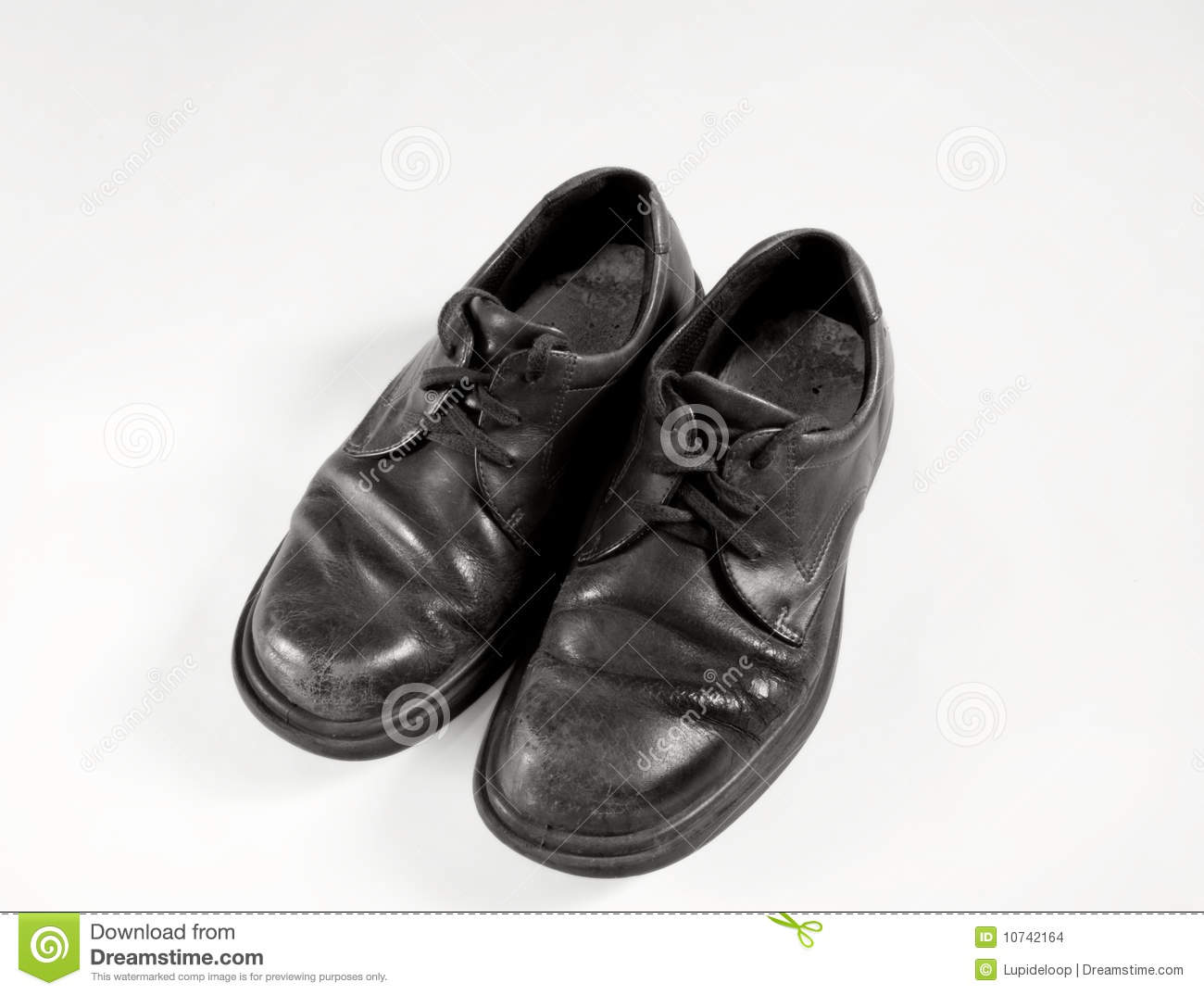 Old School Shoes In Black And White